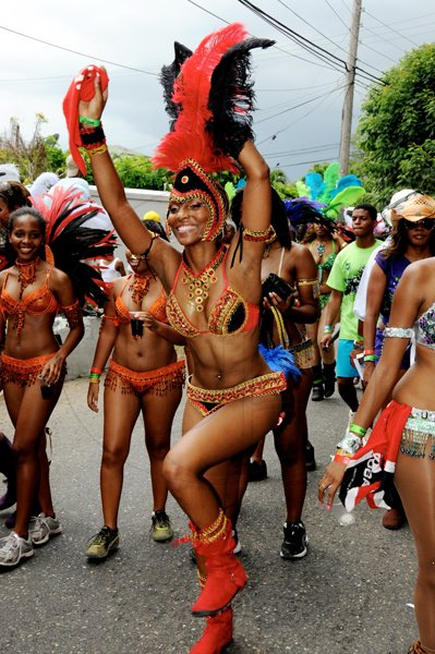 Winston Sill / Freelance Photographer Actress Sakina Deer is in a party mood during the road march.      Bacchanal Jamaica Carnival Road Parade, held on Sunday May 1, 2011.