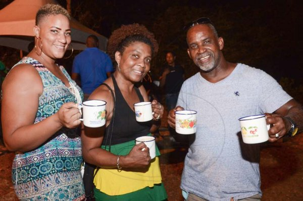 Shorn Hector/Photographer  Patrons kept warm all night by Jamaican Chocolate tea at the Seville Emancipation Jubilee 2018