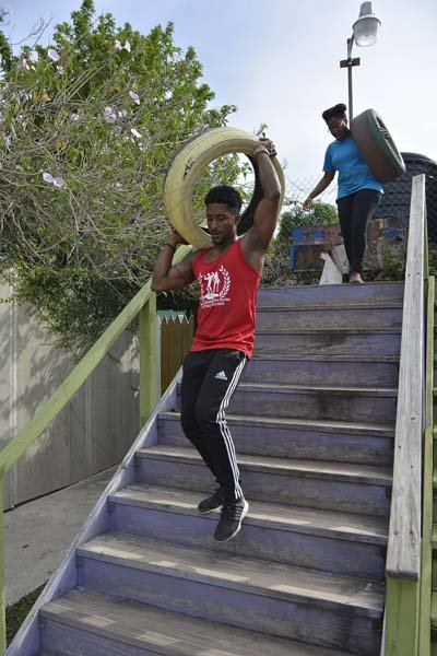 Lionel Rookwood/PhotographerThe Gleaner's Fit 4 Life eleventh event with Sweet Energy Fitness Club at Fit Farm Fitness Club, 2 Upper Braemar Avenue, St Andrew on Saturday, September 1, 2018.