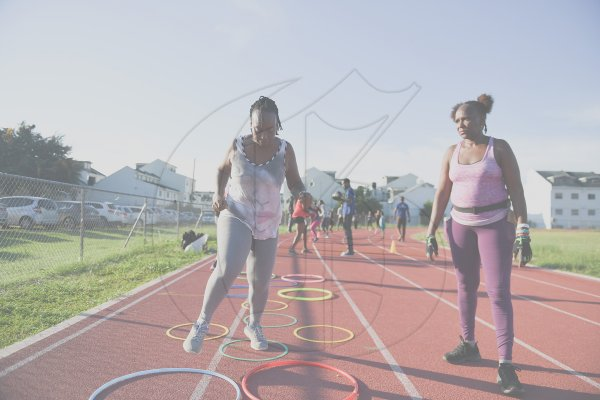 track and field circuit training with TrainFit