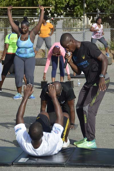 Lionel Rookwood/PhotographerThe Gleaner's Fit 4 Life Season 2 Tuff Enuff fourth event with Sweet Energy Fitness Club on Saturday, July 14, 2018 at Jessie Ripoll Primary School, 26 South Camp Road, St Andrew.