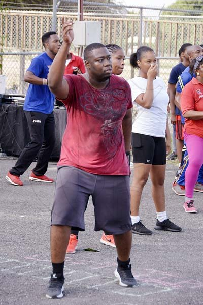 Lionel Rookwood/PhotographerThe Gleaner's Fit 4 Life Season 2 Tuff Enuff Challenge fifth event with the TrainFit Club at the In Motion Gym, Shortwood Teachers College, 77 Shortwood Road, St Andrew on Saturday, July 21, 2018.