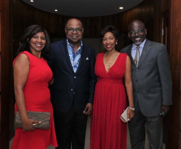 Ashley Anguin Photo/ContributedFrom L-Yvonne Lawson poses with Minister of Tourism Edmund Bartlett, Grace Ives and Dr. St. Aubyn Bartlett