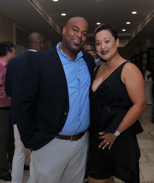 Ashley Anguin Photo/ContributedFrom L- Dwight Crawford (Councillor of Spring Gardend) poses with his wife Rhezinho
