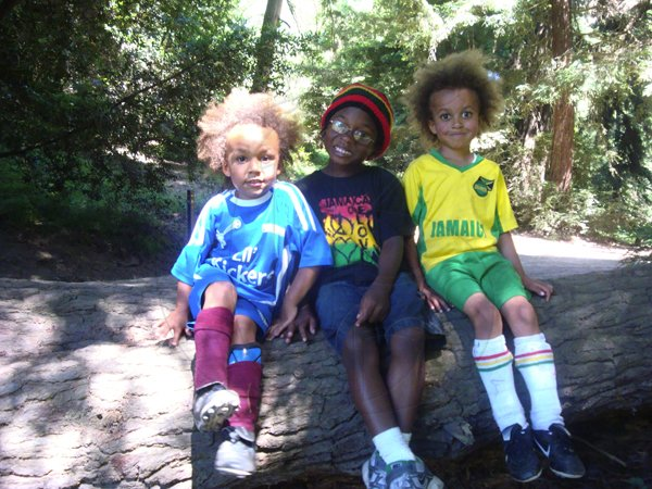 Children of Jamaican parents making a statement about their heritage