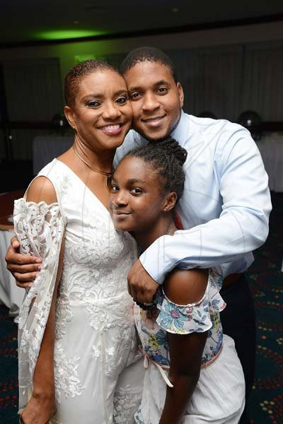 Rudolph Brown/ Photographer<\n>Birthday girl Joan Forrest-Henry, pose with her kids Brandon and Kaelia Henry.<\n>at her 25/25 birthday celebration with families and friends at the Jamaica Pegasus Hotel in New Kingston on Saturday, June 30, 2018<\n>