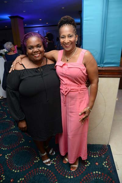 Rudolph Brown/ PhotographerLorna Reynolds Minott, (right) and Veveene McLachlan at Joan Forrest-Henry 25/25 birthday celebration with families and friends at the Jamaica Pegasus Hotel in New Kingston on Saturday, June 30, 2018