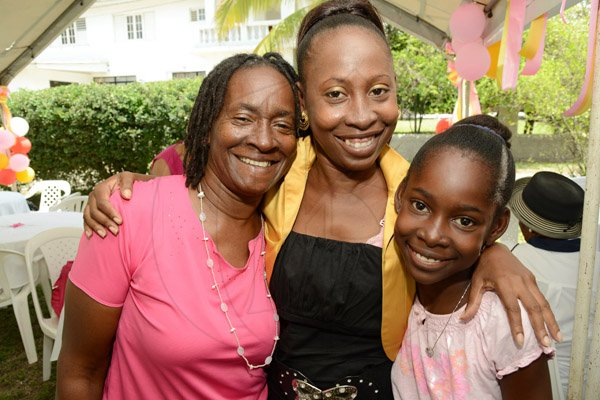 Rudolph Brown/Photographer Grandma Valrie Johnson, (left) with her daughter Allison Earle, (centre) and granddaughter Shannon Earle at the St Michael's Anglican Church Kingston Annual Mother's Day Brunch at the Rectory on Tucker Avenue Sunday, May 11, 2014