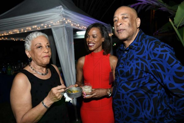 Rudolph Brown/ PhotographerFrom left are Leslene Davis,  Kayeann Holness and Ricky Chin at Norma Cohen  80th birthday party with family and friends at Orange Crescent in St. Andrew on Saturday January 19, 2019