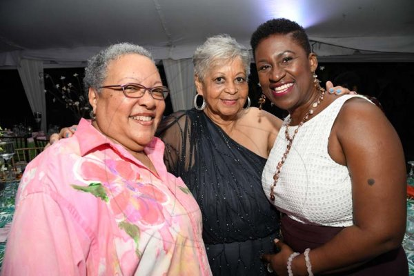 Rudolph Brown/ PhotographerNorma Cohen, (centre) birthday girl with Judith Allen, (left) and Tracey McFarlene at Cohen 80th birthday party with family and friends at Orange Crescent in St. Andrew on Saturday January 19, 2019