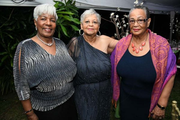 Rudolph Brown/ PhotographerNorma Cohen, (centre) celebrate her 80th birthday party with Alice Dilworth, (right) and Shelly Hewett at Orange Crescent in Kingston on Saturday January 19, 2019