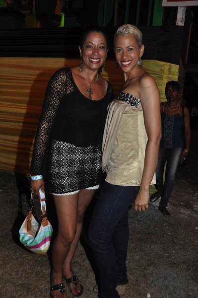 - Janet Silvera  Debra Lee (left) and Francine Haughton ar Reggae Sumfest 2012 (Friday night)