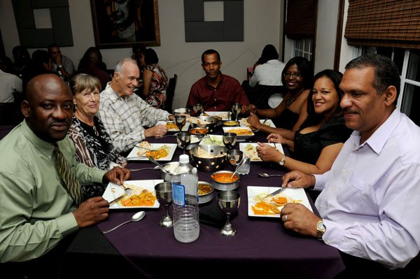 Winston Sill / Freelance Photographer Restaurant Week dining with Gleaner Executives and Guests, at the Tamarind Indian Cuisine, Orchid Village, Barbican Road  on Wednesday night November 7, 2012