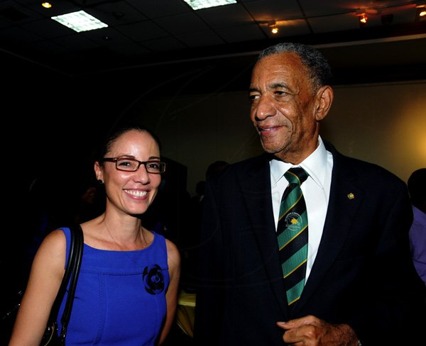 Winston Sill / Freelance PhotographerJohnson family:  Ambassador Anthony Johnson (right) and  beaming daughter Kamina.Leader of the Jamaica Labour Party (JLP) Andrew Holness host Reception in honour of The Most Hon. Edward Seaga, held at the Jamaica Pegasus Hotel, New Kingston on Tuesday night October 9, 2012.Here are Ambassador Anthony Johnson (right) and daughter ____??????? (left).