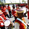 Ricardo Makyn/Staff Photographer  The Jamaica Military Band performing at the  State opening of Parliament at Gordon House on Thursday 3.4.2014