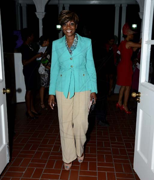Winston Sill/Freelance Photographer Dress for Success Jamaica annual Fundraising Tea Party, held at the British High Commission, Trafalgar Road on Thursday night November 7, 2013. Here is Belinda Williams.